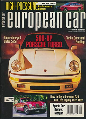 (European Car : Bmw 535i; Miller Woods Fueler; Dive a 500 Hp Porsche; BMW 326iC and BMW Hamann 325i Coupe; The Alfa Romero GTV-6; The Morgan Sports Car)