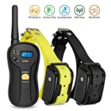 Remote Dog Training Collar, Focuspet Blind Operation Rechargeable Electric Waterproof 655 yd Dog Bark Control Collar 16 Levels Tone,Vibration & Shock E-Collar for 2 Puppy, Small medium & Large Dogs