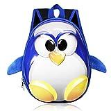 Zahara Toddler Kids Backpack 3D Cute Zoo Animal Cartoon Preschool Bag Penguin Blue