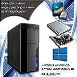 PC FISSO COMPUTER DESKTOP INTEL CORE i7 - RAM 16 GB - SSD 120 HDD 1TB - SCHEDA VIDEO DEDICATA 4 GB LICENZA ORIGINALE MICROSOFT WINDOWS 10 PRO