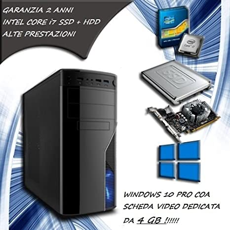 PC Fijo Computer Desktop Intel Core i7 - ram 16 GB - SSD 120 HDD ...
