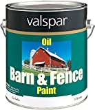Valspar 3141-75 Barn and Fence Oil Based Paint, 1-Gallon, White
