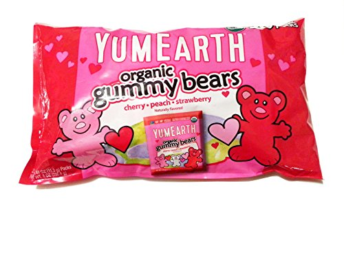 YumEarth Organic Gummy Bears Valentines Naturally Flavored  20 Treat Packs