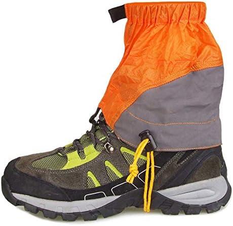 シューズカバー 防水レインブーツ、ハイキングシューズをカバーし、耐久性に優れ、高通気性の靴は、4色(1ペア)をカバー 防風性と防水性 (Color : Orange)
