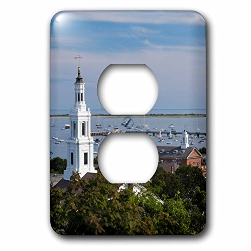 Danita Delimont - Monument - Massachusetts, Cape Cod, Pilgrim Monument - Light Switch Covers - 2 plug outlet cover (lsp_230911_6)