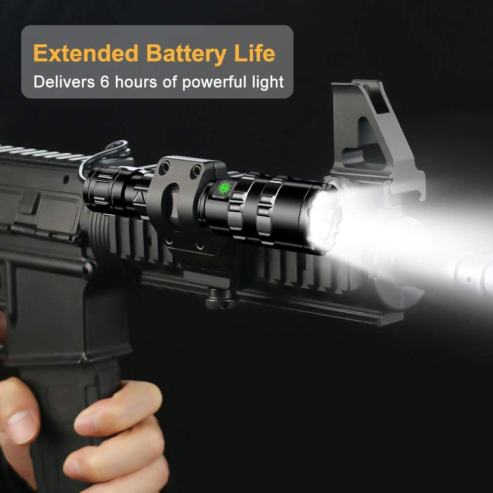 WPF ZJH 8000Lums LED Flashlight Tactical torch powerful usb Rechargeable lamp L2 Hunting light 5 Modes C8 flashlights hunting scopes (Color : L2 PACKAGE C) C8 T6 Package I