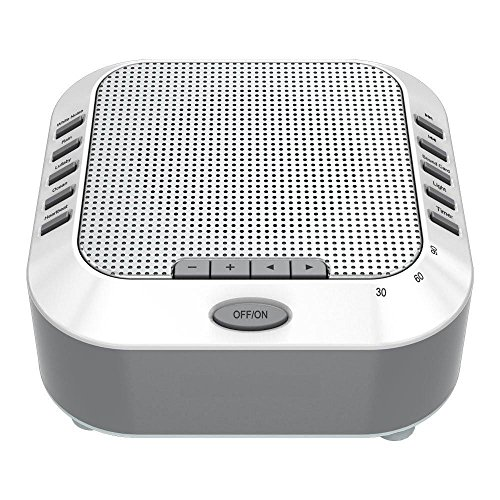 Sound Sleep Machine, Digital USB Noise-Cancelling for Sleep, Rechargeable Sleep Machines for Baby, Adult White Noise Machine with 5 Smoothing Natural Sounds Support TF Card Settings and Timers-Helps S