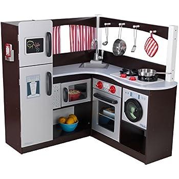 Amazon Com Kidkraft Grand Espresso Corner Kitchen Toys