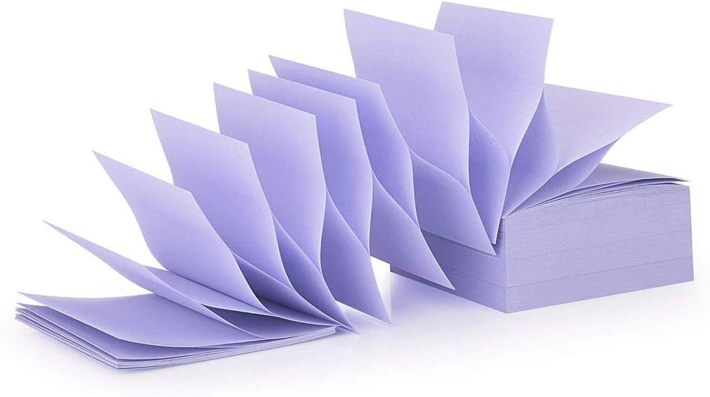 ZCZN Pop-up Sticky Notes 76 x 76 mm 4 Pads Bright Colour Self-Stick Notes 100 Sheets//Pad Blue