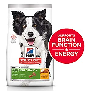 Hill's Science Diet Dry Dog Food, Adult 7+ for Senior Dogs, Youthful Vitality, Chicken & Rice Recipe, 12.5 lb Bag