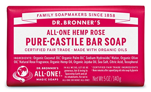 Price comparison product image Dr. Bronner's Organic Castile Bar Soap - (Rose, 5 oz)