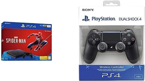 PlayStation 4 (PS4) - Consola de 1 TB + Marvels Spider-Man + Dualshock 4 Mando Inalámbrico, Color Negro V2: Amazon.es: Videojuegos