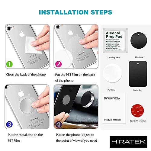 PUNIX® - Portable Universal Car Dashboard Mount Magnetic Mobile Phone Holder for All Smartphones