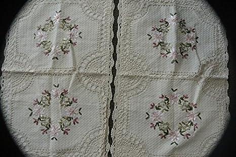 Amazon.com: Algodón Crochet cama Cover & Funda de almohada ...