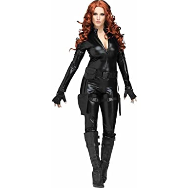 fun world womens midnight ops widow halloween costume black extra large