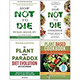Books : How Not To Die Cookbook Michael Greger, Plant Anomaly Paradox Diet Evolution, Plant Based Cookbook For Beginners 4 Books Collection Set
