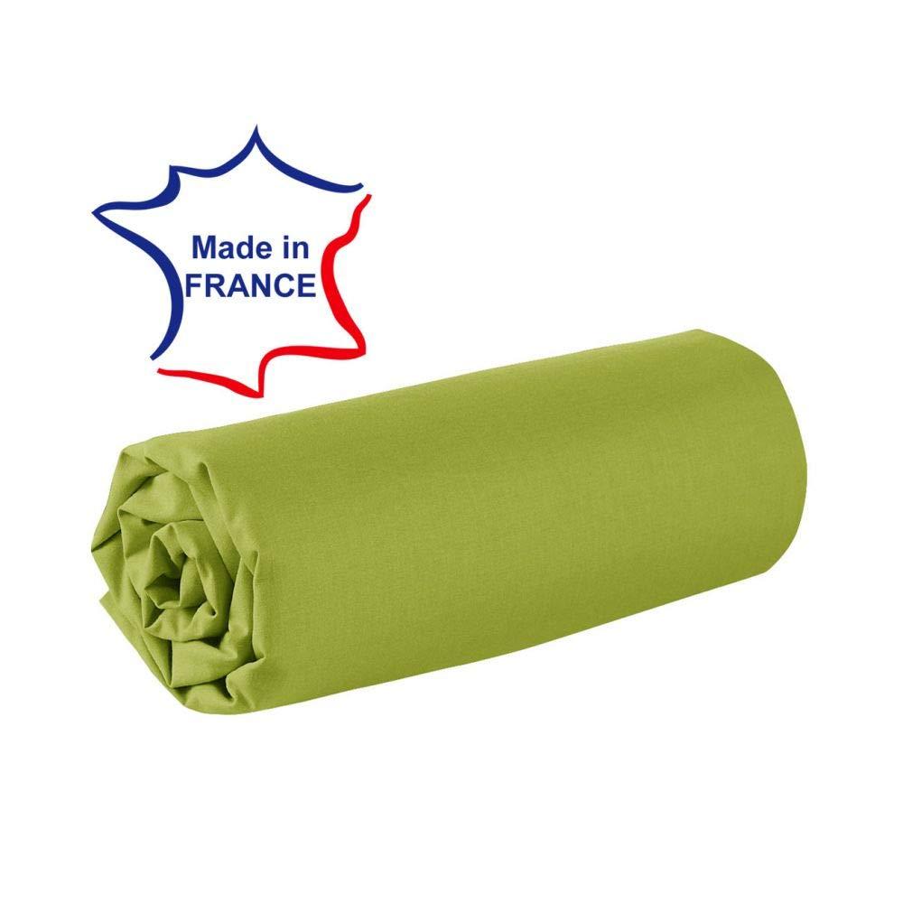 dkdo Drap Housse 100/% Coton 57 Fils France Fuchsia 80 x 200 cm