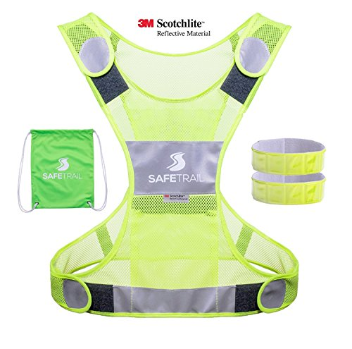 Reflective Running Vest, Reflective Vest for Cycling Dog Walking Motorcycle, 3M Scotchlite Reflective Running Gear, Safety Vest Reflective with Pocket & Reflective Sport Armband for Men Women Children