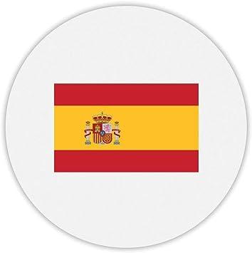 Alfombra de ratón redonda con diseño de la bandera de España: Amazon.es: Electrónica