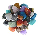 Digging Dolls: 1 lb Assorted Tumbled Stone Mix from Madagascar - Small - 0.75'' to 1.25'' Avg. - Exceptional Quality Polished Rocks for Crafts, Art, Reiki, Wicca, Crystal Healing, Metaphysical and More!