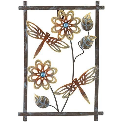 Regal Art & Gift 12365 Sienna Decor-Dragonfly Wall Décor, Pewter Rust (Dragonfly Wall Art)