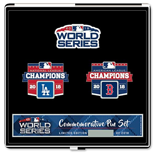(Pro Specialties Group 2018 World Series Commemorative Pin Set - Dodgers vs. Red Sox - Limited Edition of 2018 )
