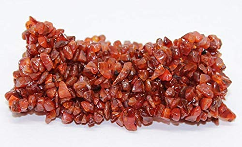 GemAbyss Beads Gemstone Carnelian Stretch Bracelet Stone Chip Bracelets Multi Strand | Natural Gemstone Bracelet | Stretch Chip Bracelet | Large Cuff Bracelet Size- 4-7mm Code-MVG-25461