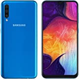 Samsung Galaxy A50 A505F (128GB + 4GB RAM) Dual SIM 4G LTE 6.4 Inch Unlocked GSM w/Triple Camera (25MP+8MP+5MP) International Version (LTE Asia Africa Europe Cuba Digitel) NO CDMA - Blue (Blue)