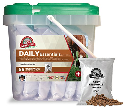 Formula 707 Daily Essentials Equine Supplement, Daily Fresh Packs, 56 Day Supply - Complete Vitamins and Minerals for Superior Health and Condition in Horses
