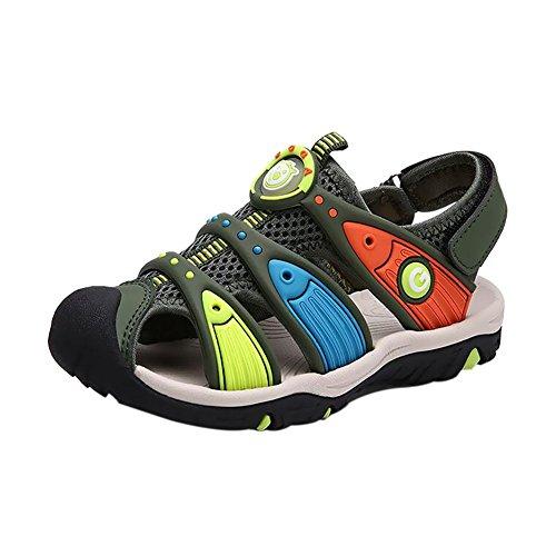 Haodasi Sommer Kinder Jungen Colorful HohlStrand Sandale Casual Sport Walking Schuhe Green