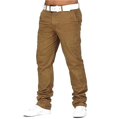 ArizonaShopping - Hosen Herren Chino Hose Jeans Stoff-Hose H688,Beige,W29 ( 6a9e8b5640