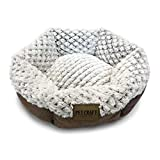 Pet Craft Supply Co. Round Machine Washable Memory Foam Comfortable Ultra Soft All Season Cat & Dog Bed