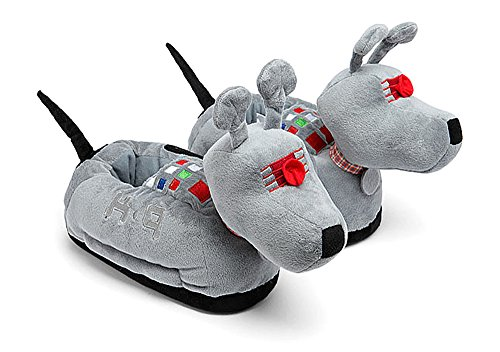 Doctor Who Women's K-9 Dog Slippers XXL