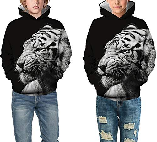 Animal Angry Tiger 3D Print Casual Sweatshirt Men Women Hoodie Pullover Tops