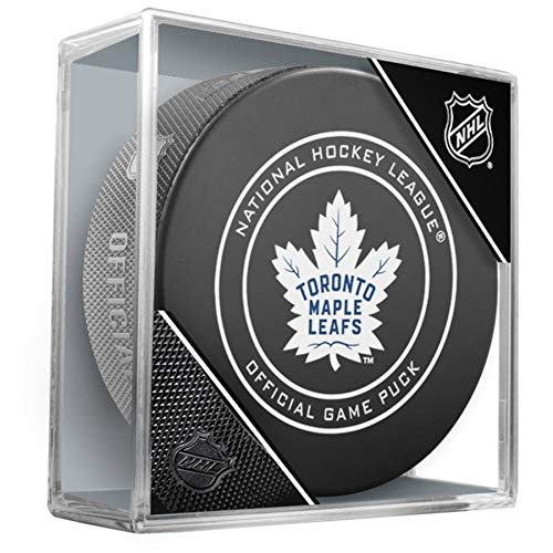 NHL Toronto Maple Leafs Official Game Hockey Puck with Holder