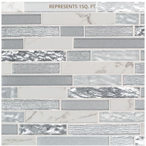 Whistler Ice Interlocking 11.81 in. x 12 in. x 8 mm Glass Mesh-Mounted Mosaic Tile