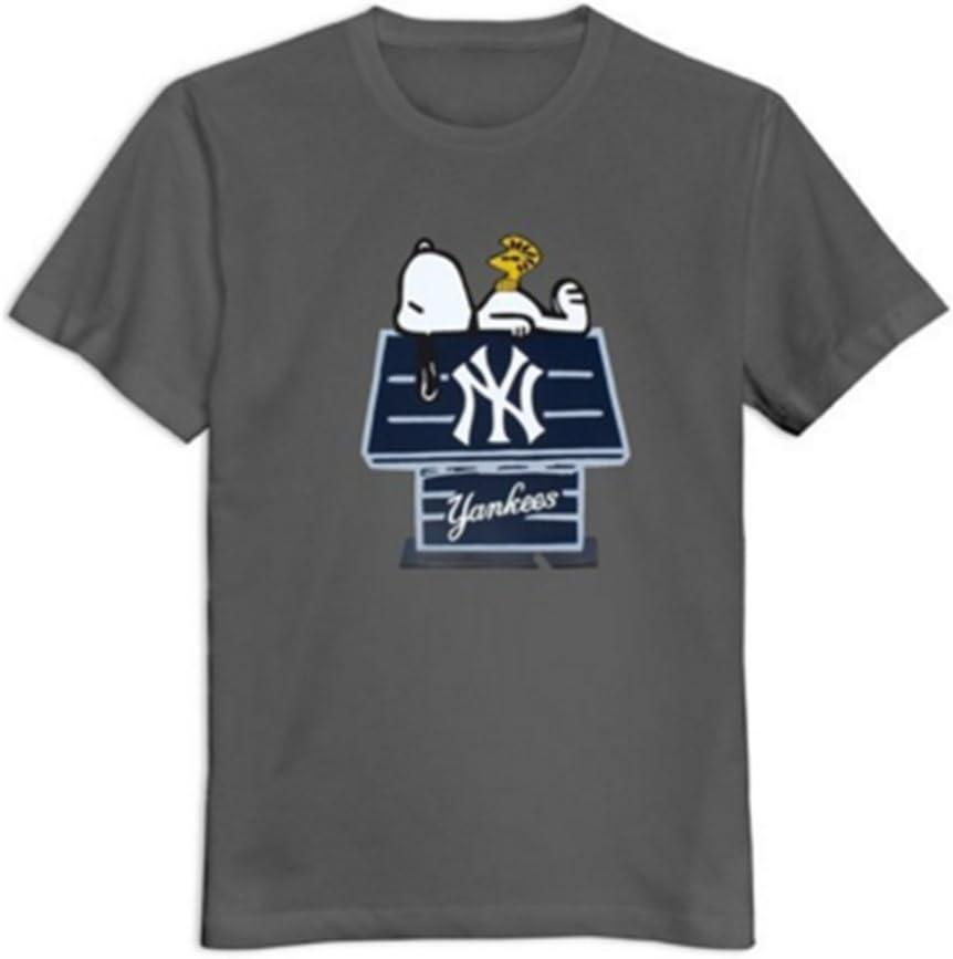 New York Yankees Snoopy Hombres Camiseta Custom Funny: Amazon.es: Deportes y aire libre