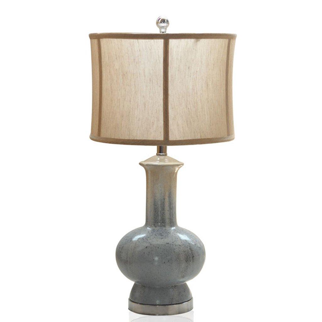 Hanlon E27-Schraubsockel, Tischlampe Kreative Keramiklampe Retro Hause Wohnzimmer Modell Zimmer Blau Kürbis Schlafzimmer Nachttischlampe