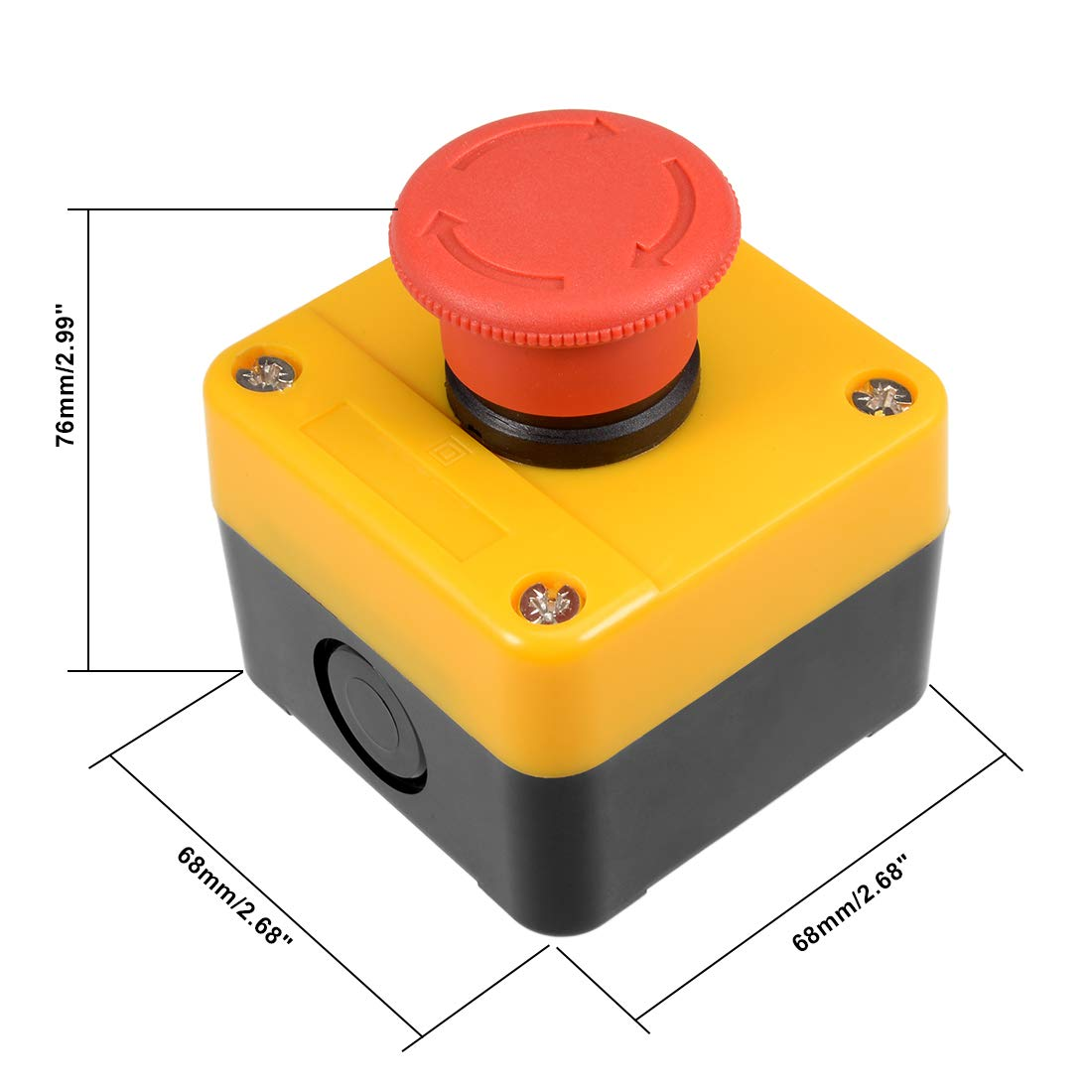 uxcell Push Button Switch Station Key Lock Select Switch Station 2 Position 660V 10A