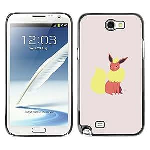 // PHONE CASE GIFT // Duro Estuche protector PC Cáscara Plástico Carcasa Funda Hard Protective Case for Samsung Note 2 N7100 / Elegante P0kemon /