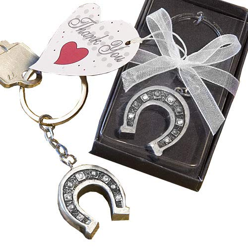 40 Fashioncraft Metal Horseshoe Key Chain Favors Wedding Bridal Shower Birthday Favors