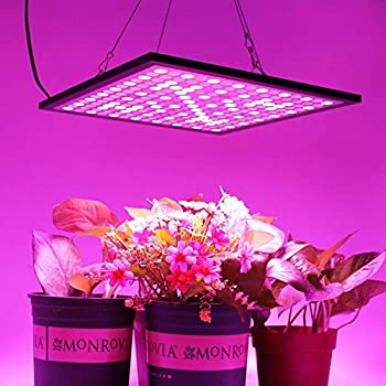 led plant grow light panelhnhc 45w indoor full spectrum hang lamp wswitch