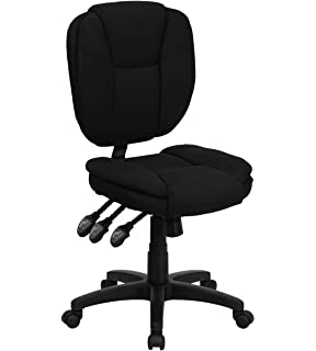 Value Star Mid Back Multi Functional Armless Ergonomic Black Fabric Task  Chair
