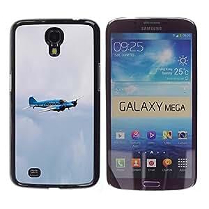 TopCaseStore / la caja del caucho duro de la cubierta de protección de la piel - avro enson avro anson - Samsung Galaxy Mega 6.3 I9200 SGH-i527