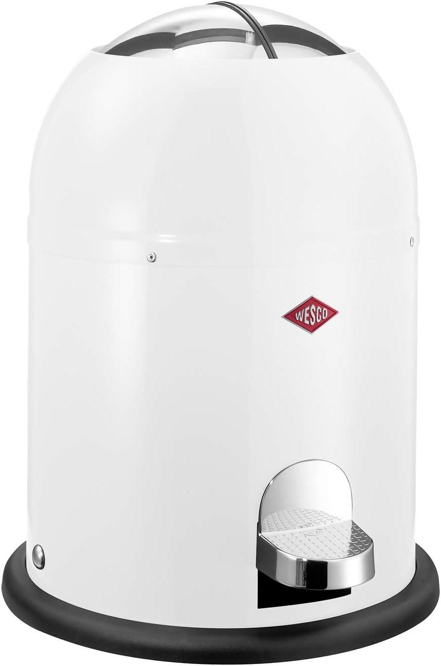 Wesco Bin Mini Master, 6Litre, Plastic, White, 26,4x26,4x36cm,
