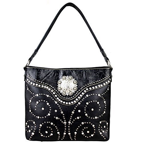 Montana West Concho Collection Cartera Y Arma De Mano Oculta Negro