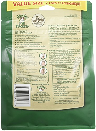 Large Product Image of GREENIES PILL POCKETS Soft Dog Treats, Chicken, Capsule 15.8-oz. 60-count pack of GREENIES PILL POCKETS Treats for Dogs Chicken, #1 vet-recommended choice for giving pills