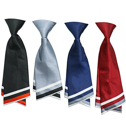 HUELE 4 Pack Womens Bowtie Adjustable Pre-Tied Work Silk Tie Accessory (Home Costumes Ideas For Women)