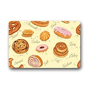 Cottage Decor Helper Original customized mantequilla Cake rott Donut Cookies Fuuny impreso Felpudo 23,6 IN x 15,7 en