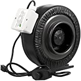 Yield Lab 6 Inch 440 CFM Duct Inline Fan With Variable Speed Controller For Grow Room Intake And Exhaust Ventilation System Review